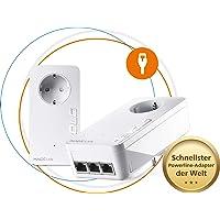 devolo Magic 2 LAN – 2400 triple Starter Kit: Weltweit schnellstes Powerline LAN-Adapter-Set für Ihr Highspeed-Heimnetzwerk, ideal für Home Office (2400 Mbit/s, 4x Gigabit LAN-Anschlüsse, G.hn)