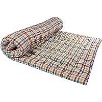 Rajasthan Handloom Large 2-Sleeping Capacity Soft Cotton Mattress (Multicolour, Full)