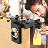 Vogvigo Zakgat Jig Kit Tool 8/10/15 mm 3 in 1 houtbewerking Doweling Jig Kit met positioneringsclip verstelbare boorgids Punc