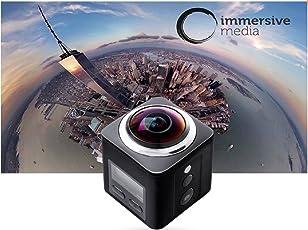 4K Panorama 36016MP Video Kamera VR Action Kamera 220° Ultra Weitwinkelobjektiv Sport Kamera 30fps Full HD DV Camcorder, WiFi Steuerung für die 2,4G Fernbedienung mit 30m wasserdicht Kamera HDMI HD Ausgang