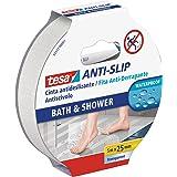 Tesa TE55533-00001-11 Cinta antideslizante 5 m x 25 mm transparante baño, standaard