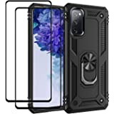 EasyLifeGo for Galaxy S20 FE Kickstand Case with Screen Protector Tempered Glass [2 pieces], Hybrid Heavy Duty Armor Dual Lay