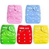 Baby Bucket All-in-One Bottom-Bumpers Washable Cloth Diaper Set of 5 Pieces-(Without Inside pad)-(Multi Colours)