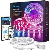 Govee Smart LED Strip, WiFi RGB LED Strip 5m, bestuurbaar via app en afstandsbediening, muzieksynchronisatie, werken met Alex