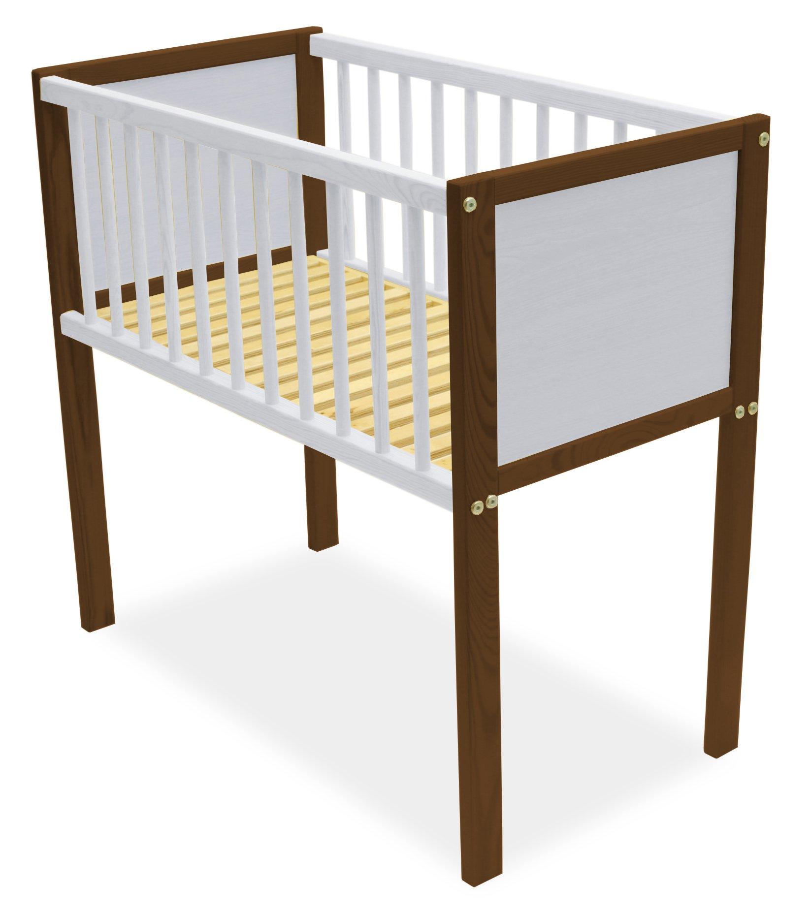 Grapi Mini Cot Bed with Mattress (Nut/Whitewash) Grapi  1
