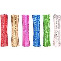 SITAKE Attaches Torsadées en Papier Kraft 4 Pouces, 6 Couleurs Mélangées Attaches d'emballage Sac Réutilisables pour…