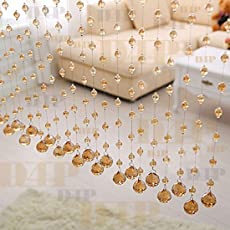 Discount4product Acrylic Crystal Strings Bead 20Pc Door/Window Hanging Curtain