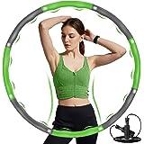 DUTISON Hula Hoop hoepel voor volwassenen, Hullahub banden, stabiele roestvrijstalen kern en langer leven, met massage-design