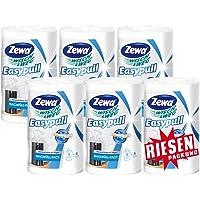 Zewa Wisch und Weg Easypull Nachfüllrolle für mobilen Papierspender, saugstarke und reißfeste Wischtücher Kompaktrolle, 6 Rollen x 160 Blatt