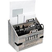 Organisateur de bureau en bois 'Letter', porte-lettre, bac à courrier, bureau de poste