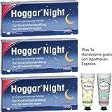Hoggar night Sparpackung 3 x 20 Tabletten inklusive einer Handcreme von Apotheken-Express (Kirschblüte oder Verbenae)