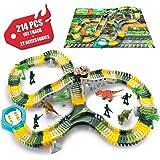 SYOSIN DinosaurierAuto Spielzeug CarsRennstrecke Rennbahn 214 Stück TwisterTracks DinoSpielzeug Geburtstag Geschenk Für Kinder 3 4 5 6 Jahre Junge / Mädchen