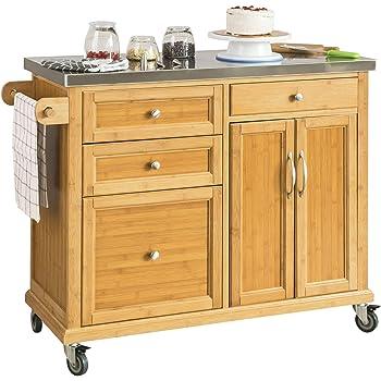 SoBuy FKW70-N Küchenwagen Kücheninsel Küchenschrank aus