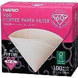 Hario VCF-02-100 MK - boîte de 100 filtre papier blanc pour cafetiere filtre Hario V60 4 tasses