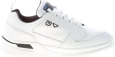 Prada Uomo Sneaker in Pelle Bianco più Grigio