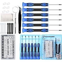 SOONAN Kit de Réparation de Lunettes à vis Micro avec Un brucelles, 500 Vis Lunettes +10 Plaquettes de Nez +7 Petits…