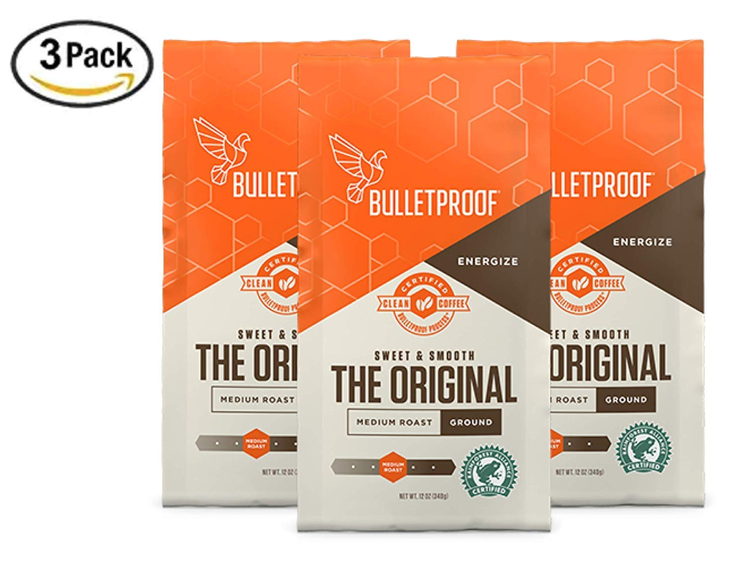 Bulletproof The Original Ground Coffee (Multi-Packs), Premium Medium Roast Organic Coffee, Keto Diet Coffee
