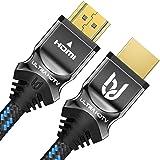 Ultra HDTV Premium 8K HDMI Kabel 2 Meter - Ultra High Speed HDMI Kabel (48 Gbps) für ruckelfreies 8K@60Hz, 4K@120Hz und…