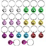 Jinlaili 20 STKS Kleurrijke Hond Kattenhalsband Bells, 12 mm Pet Collar Charms Bell Charm Hanger Sleutelringen, Luid Pet Bell