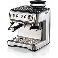 Ariete 1313 Macchina per caffè espresso con macinacaffè, per grani, polvere e cialda ESE, Cappuccinatore montalatte…