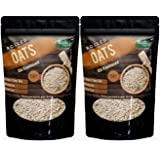 Rootz & Co. Whole Rolled Oats 1.5kg (Pack of 2) (750gms Each) - High Protein, Fiber Rich & Gluten Free Wholegrain Oats for He