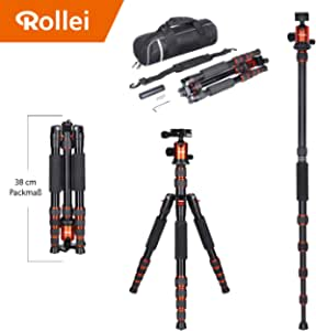 Rollei Traveler Alu Stativ I Orange I Kamera Stativ I Kamera