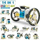 Pickwoo 14 in 1 Solar Roboter Bausatz Set Kinder, STEM Spielzeug Konstruktion Bauset, Educational Lernspielzeug mit…