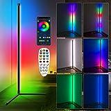 Lampadaire LED Salon,RGBW Lampadaire sur Pied d'angle Lampe d'intérieur Éclairage décoratif Lampe Debout Lumière Couleurs rég