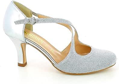L'ANGOLO CALZATURE - Scarpa da Ballo in Glitter Argento