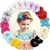 24 Pezzi Bambine Forcine per capelli Barrette per capelli in chiffon per Adolescenti Bambini piccoli