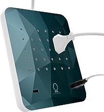 EGG ELECTRONICS PowerStation, innovative Ladestation für gleichzeitiges Laden von 17 Geräten, 15 Eurostecker Typ-C und 2 USB-Ports, Steckdosenleiste, Mehrfachsteckdose mit auswechselbarem Design, Überspannungsschutz, 1.5m Kabel, ICEBERG