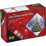 Idena 8325058 - LED Lichterkette mit 80 LED in warm weiß, mit 8 Stunden Timer Funktion, Innen und Außenbereich, für…