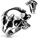 Dragon Claw Skull Stainless Steel Men's Ring Size 9-13 (Sold Individually)
