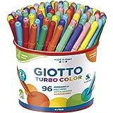 Giotto 521500 Pennarelli Turbo Color Punta Fine, 2.8 mm, Confezione da 96 pezzi