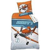 CTI 041292 Bettwäsche Disney Planes Dusty, Baumwolle Linon, 135 x 200 und 80 x 80 cm