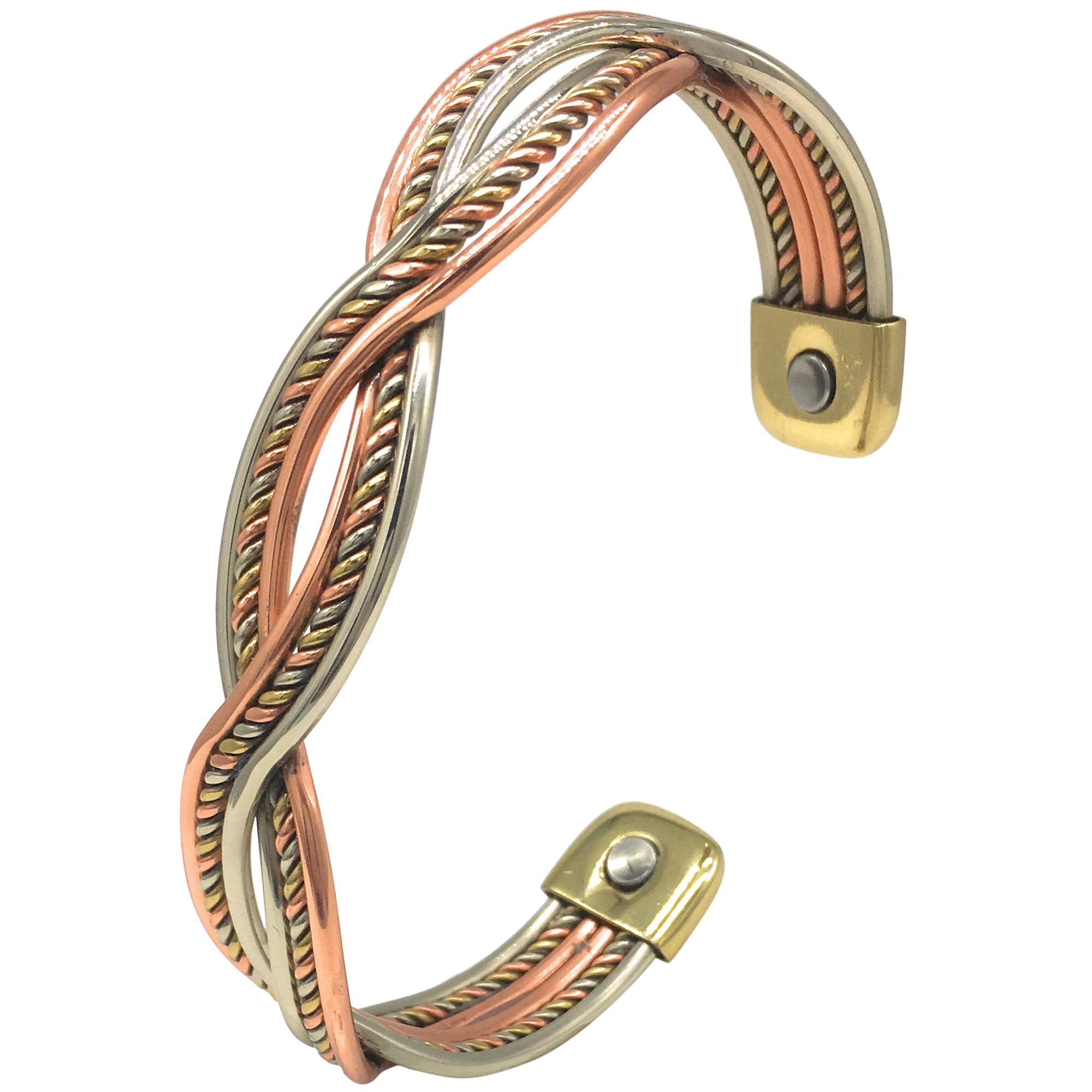 Helena Rose Pure Copper Bangle – Magnetic Therapy Health Bracelet for Women – Handmade Mexican Twist Design – Aids Natural Pain Relief for Arthritis Joint Stiffness – Plus Jewellery Gift Box