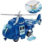 HERSITY Helicóptero de Rescate Avion de Juguete Coche de Friccion con Luz y Sonidos Regalos para Niños 3 4 5 Años (Azul)