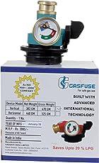 GAS FUSE Domestic Gas Safety Device/ Metal Leak Detector/ Regulator on/off Adaptor, 18x9 cm (Blue, GAS-FUSE_1)