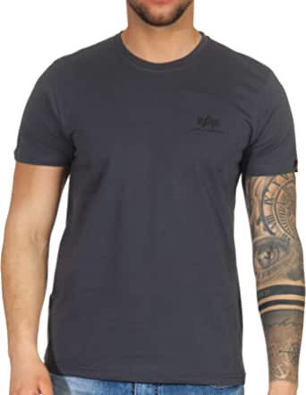 ALPHA INDUSTRIES Men's Basic T Small Logo T-Shirt