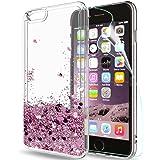 LeYi Hülle iPhone 6 Plus/iPhone 6S Plus Glitzer Handyhülle mit HD Folie Schutzfolie,Cover TPU Bumper Silikon Treibsand…