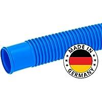 Tuyau de piscine SL247 - Bleu - 12 m de long et 38 mm de large - Pour raccorder le filtre à sable sur la piscine - Fabriqué en Allemagne
