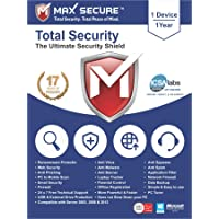 Max Secure Software Total Security Platinum Version 6 for Windows (1 PC, 1 Year (EMAIL Download))