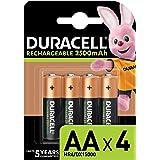 Duracell - Pilas Recargables AA 2500 mAh, paquete de 4