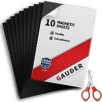 GAUDER Plaques Magnétiques avec Support Adhésif   Feuilles Magnétiques Adhesives   Papier Magnétique Flexible
