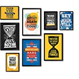 PAPER PLANE DESIGN Engineered Wood Quote Photo Frames, Black , 14 x 12.5, 12.5x 18 Inch