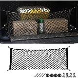 Car Rear Cargo Net, Adjustable Elastic Storage Organizer Net, Trunk Cargo Storage Net, Universal Fit for Car, Vehicle, SUV