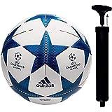 WRF UEFA Champion League PU Football, Size 5,  White, Blue