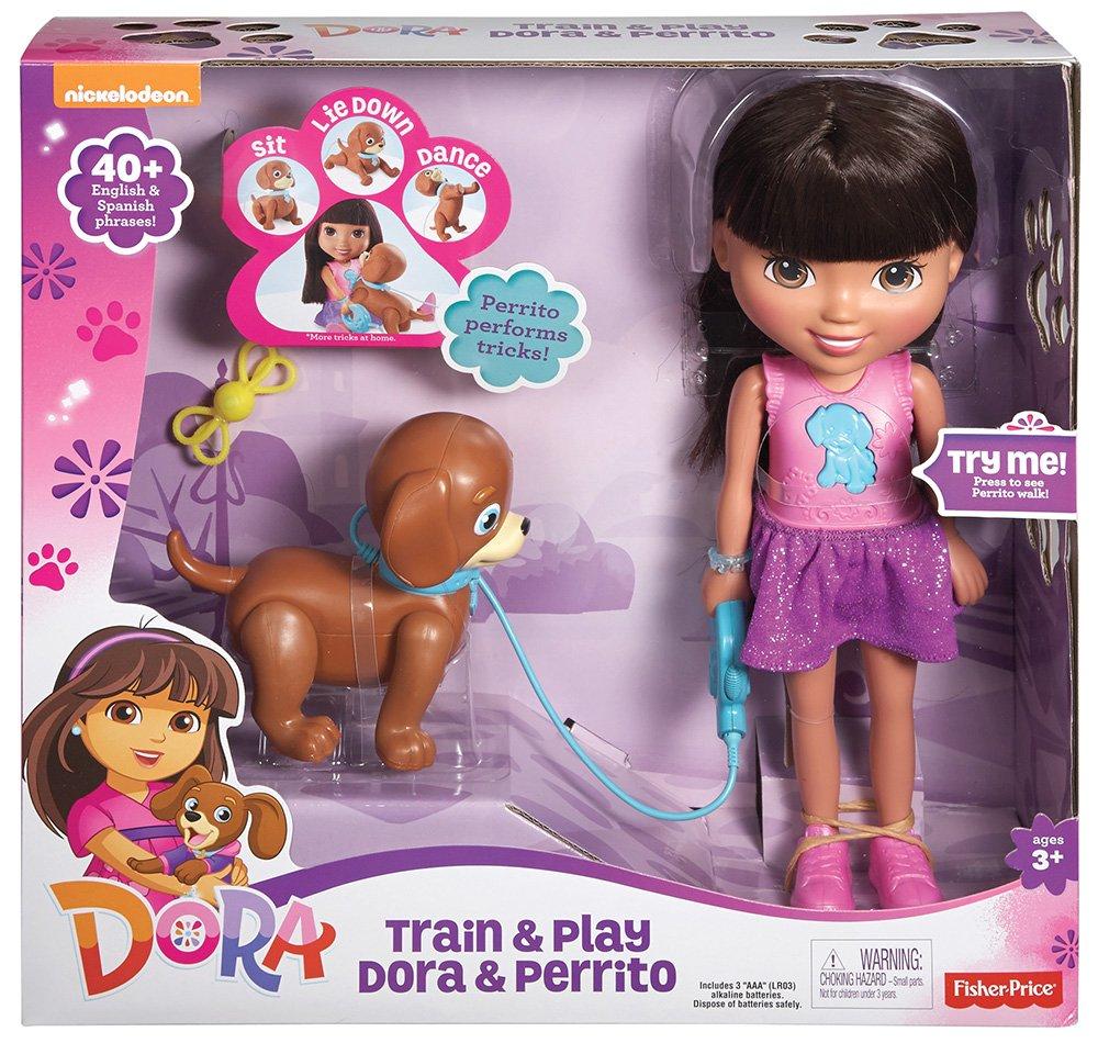 Mattel CGT65 – Fisher-Price – Dora – Train & Play Dora y Perrito Cachorro [DVD]