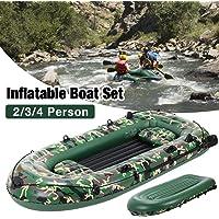 Bateau gonflable pour 2 à 4 personnes, radeau de bateau gonflable de 10 pieds, ensemble de kayak gonflable durable en…