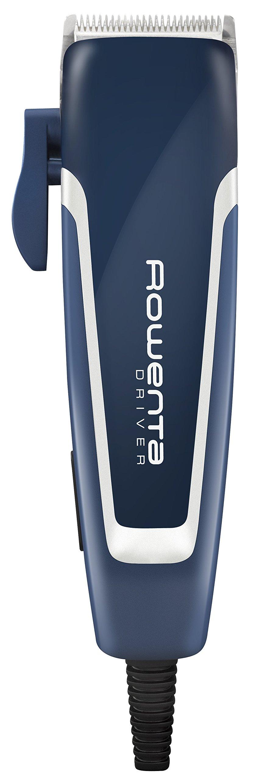 Rowenta Driver TN1600F0 – Cortapelos con cable con cuchillas de acero inoxidable y 20 longitudes de corte de alto rendimiento con peine fijo, incluye cepillo y aceite